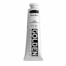 Golden Heavy Body Acrylics, 2 oz, Bone Black