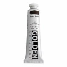 Golden Heavy Body Acrylics, 2 oz, Burnt Umber