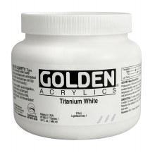 Golden Heavy Body Acrylics, Quart Jars, Titanium White