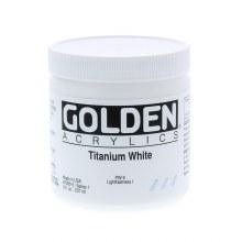 Golden Heavy Body Acrylics, 8 oz Jars, Titanium White