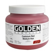 Golden Heavy Body Acrylics, 32 oz, Cadmium Red Medium Hue