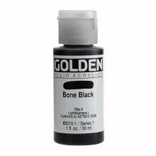 Golden Fluid Acrylics, 1 oz, Bone Black