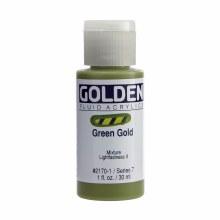 Golden Fluid Acrylics, 1 oz, Green Gold