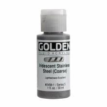 Golden Fluid Acrylics, 1 oz, Iridescent Stainless Steel