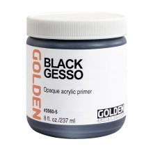 Gesso, Black Gesso, 8 oz.