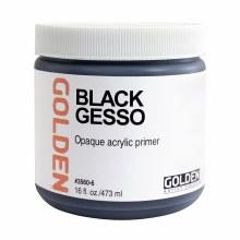 Gesso, Black Gesso, Pint