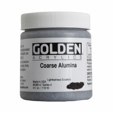Golden Acrylics, 4 oz, Jars, Coarse Alumina