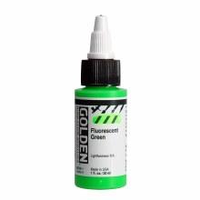 Golden High Flow Acrylics, 1 oz, Fluorescent Green
