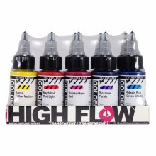 High Flow Acrylic Sets, 10-Color 1 oz. Transparent Set