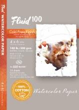 Fluid 100 Watercolor Paper Blocks, Cold Press, 4 in. x 6 in. - 140 lb., 15 Shts./Block