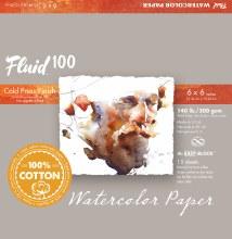 Fluid 100 Watercolor Paper Blocks, Cold Press, 6 in. x 6 in. - 140 lb., 15 Shts./Block