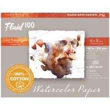 Fluid 100 Watercolor Paper Blocks, Cold Press, 6 in. x 8 in. - 140 lb., 15 Shts./Block