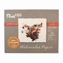 Fluid 100 Watercolor Paper Blocks, Cold Press, 16 in. x 20 in. - 140 lb., 15 Shts./Block