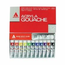Holbein Acryla Gouache 12-Color 20ml Set, Master Set