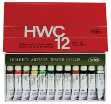 Holbein Artists Watercolor 12-Color 5ml Set, Tubes