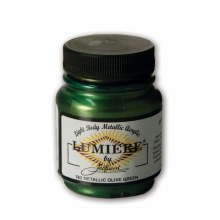 Lumiere Acrylic Colors, Metallic Olive Green