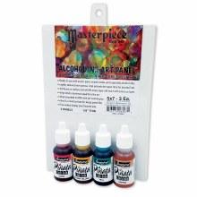 Pinata Colors Masterpiece Set, 4-Color Set & 5 Alcohol Ink Panels