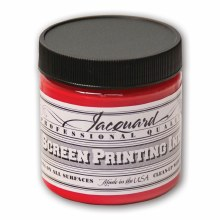 Professional Screen Printing Ink, 4 oz. Jars, Bright Red