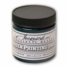 Professional Screen Printing Ink, 4 oz. Jars, Green