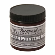 Professional Screen Printing Ink, 4 oz. Jars, Brown