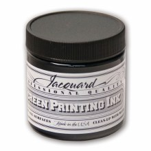 Professional Screen Printing Ink, 4 oz. Jars, Black