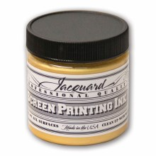 Professional Screen Printing Ink, 4 oz. Jars, Gold