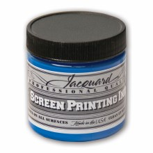 Professional Screen Printing Ink, 4 oz. Jars, Opaque Blue