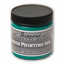 Professional Screen Printing Ink, 4 oz. Jars, Opaque Green