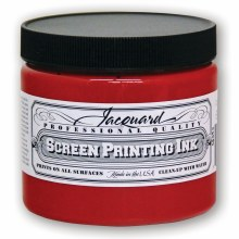 Professional Screen Printing Ink, 16 oz. Jars, Red