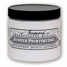 Professional Screen Printing Ink, 16 oz. Jars, Super Opaque White