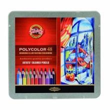Polycolor Artists Colored Pencil Sets, 48-Color Set