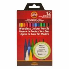 Progresso Woodless Colored Pencil Sets, 12-Color Set