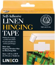 Self Adhesive Linen Hinging Tape, 1.25 in. x 35 ft. - White