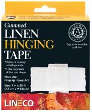Gummed Linen Hinging Tape, 1 in. x 30 ft.