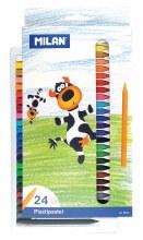 Plastipastel Wax Pencil Sets, 24-Color Set