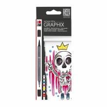 Graphix Aqua Pen Sets, King of Bubblegum 6-Color Set