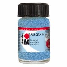 Porcelain Paint, 15ml Jars, Glitter Blue