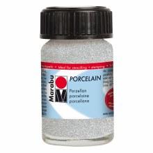 Porcelain Paint, 15ml Jars, Glitter Silver