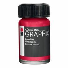 Graphix Aqua Ink, Carmine Red