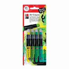 Art Crayon Sets, 4-Color Green Jungle Set