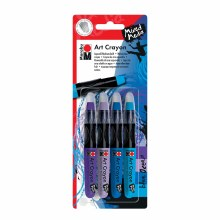 Art Crayon Sets, 4-Color Blue Ocean Set