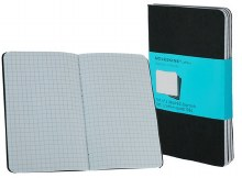 Moleskine Cahier Journals, Squared - Black