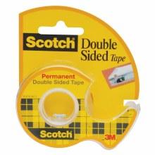 Scotch Double Sided Tape, 1/2 in. x 250 in. deepispenser Roll