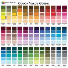 Magic Palette Artists Color Value Guide, 11-1/2 in. x 11-1/2 in. (29.2 x 29.2cm)