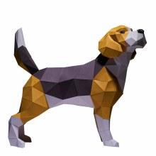 3D PaperCraft Model DIY Kits - Beagle