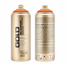 Montana GOLD Spray Color, Pure Orange - 400ml Spray Can