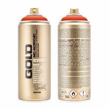 Montana GOLD Spray Color, Red Orange - 400ml Spray Can