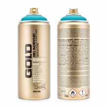 Montana GOLD Spray Color, 100% Cyan - 400ml Spray Can