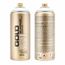 Montana GOLD Spray Color, Shock White Pure - 400ml Spray Can