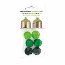 Montana Green Level Spray Caps, 6-Cap Set - Carded